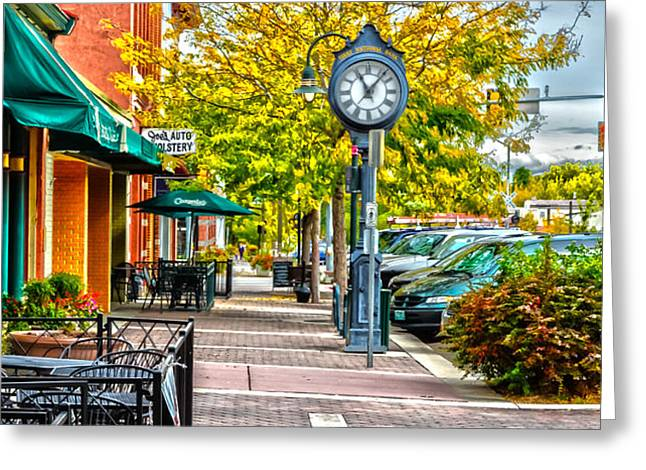 Old Clock Greeting Card by Baywest Imaging