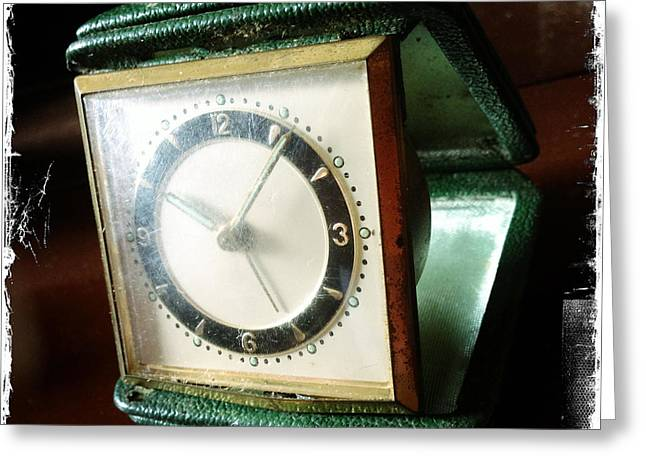 Clock Hands Greeting Card featuring the photograph Old Clock by Les Cunliffe