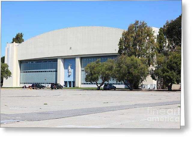 Yerba Buena Greeting Cards - Old Converted Military Hangar Building On San Francisco Treasure Island 5D25368 Greeting Card by Wingsdomain Art and Photography
