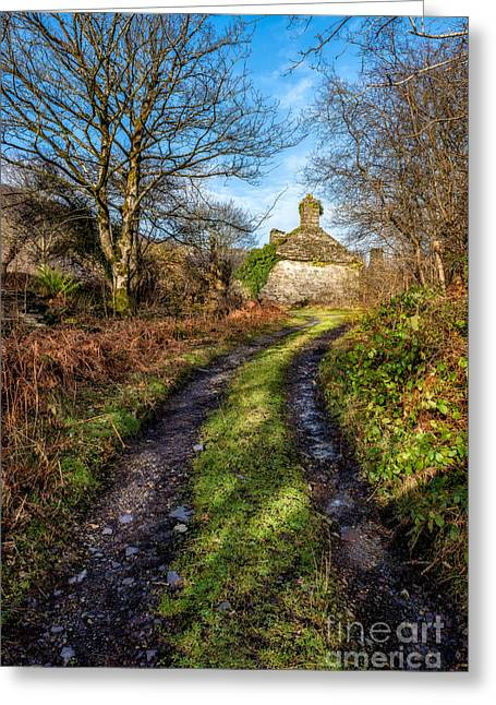 Dilapidated Digital Art Greeting Cards - Old Cottage Greeting Card by Adrian Evans