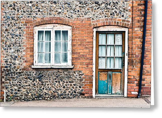 Lock Down Greeting Cards - Old cottage Greeting Card by Tom Gowanlock