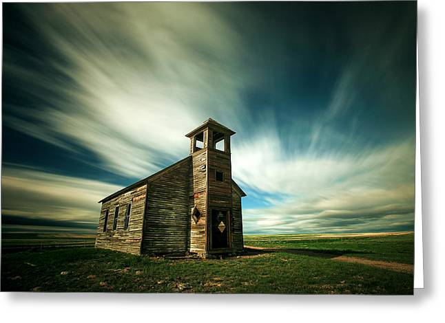 Old Western Photos Greeting Cards - Old Cottonwood Church Greeting Card by Todd Klassy
