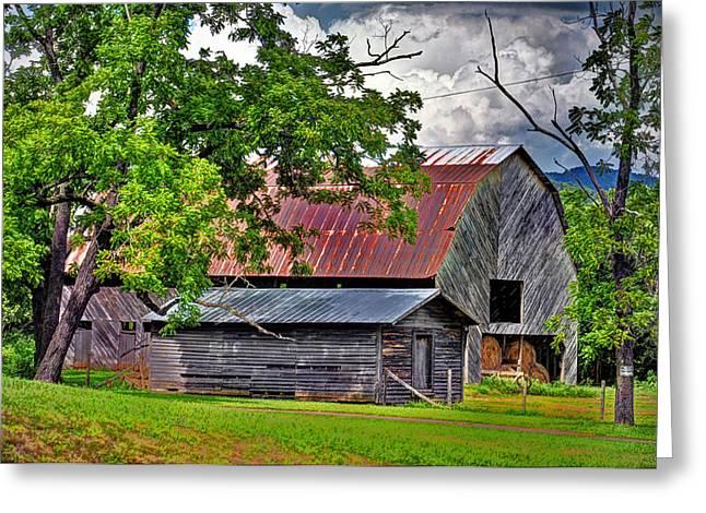 Franklin Farm Greeting Cards - Old Country Barn Greeting Card by Savannah Gibbs