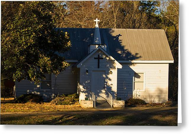 Country Church Greeting Cards - Old Country Church Greeting Card by Chris Flees