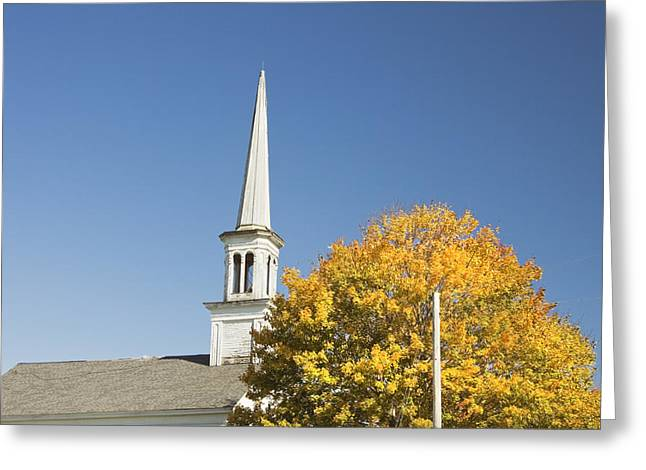 Old Churches Greeting Cards - Old Country Church In Fall Greeting Card by Keith Webber Jr