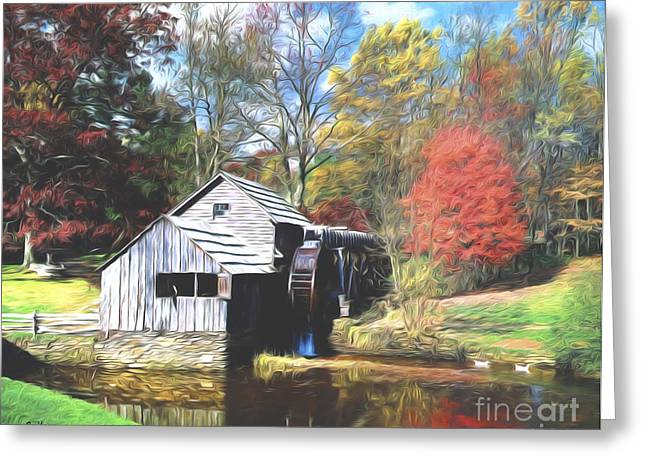 Grist Mill Greeting Cards - Old Country Mill Greeting Card by Steve Bailey