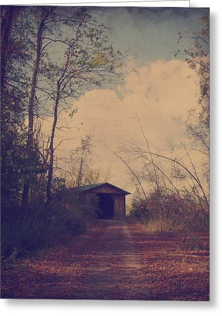 Old Country Road  Greeting Card by Gothicolors Donna Snyder