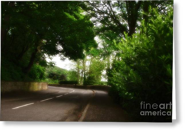 Old Country Roads Mixed Media Greeting Cards - Old Country Road - Peak District - England Greeting Card by Michael Braham