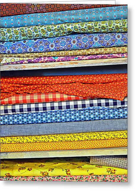 Purchase Greeting Cards - Old Country Store Fabrics Greeting Card by Christine Till
