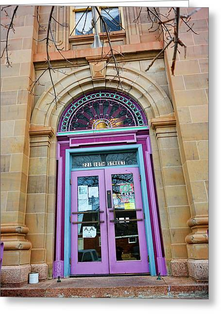 Evanston Greeting Cards - Old Court House in Evanston Wyoming - 1 Greeting Card by Ely Arsha