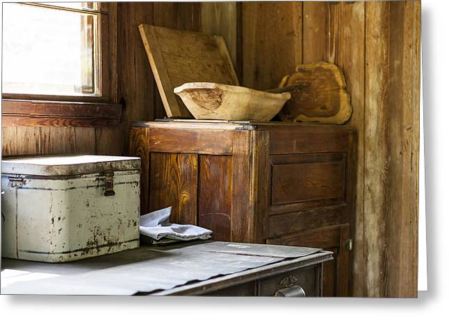 Outbuildings Greeting Cards - Old Cracker Country Kitchen Greeting Card by Lynn Palmer