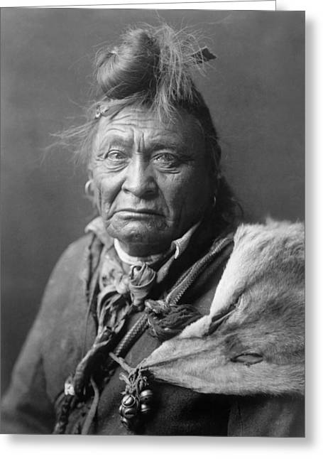 Sad Eyes Greeting Cards - Old Crow Man circa 1908 Greeting Card by Aged Pixel