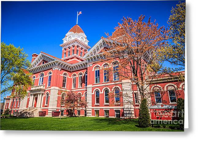 Lake County Greeting Cards - Old Crown Point Courthouse Greeting Card by Paul Velgos