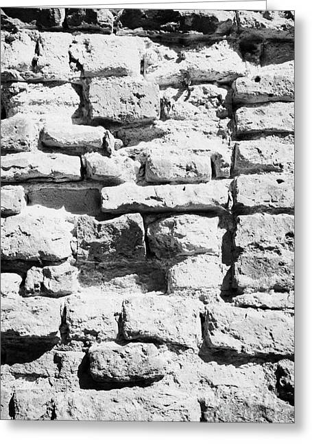 Polish City Greeting Cards - Old Crumbling Red Bricks In Building In Kazimierz Krakow Greeting Card by Joe Fox