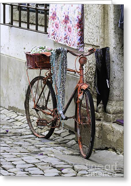 Dynamos Greeting Cards - Old Cycle Greeting Card by Paul Daniels