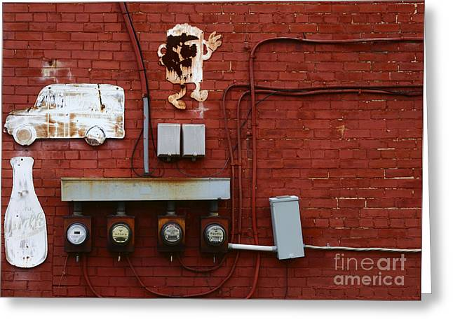 Bottle Of Milk Greeting Cards - Old Dairy Wall 1 Greeting Card by James Brunker