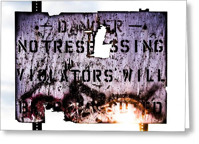 Geometric Photographs Greeting Cards - Old Danger Greeting Card by Bob Orsillo