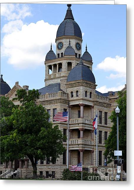 Ruth Housley Greeting Cards - Old Denton Courthouse Greeting Card by Ruth  Housley