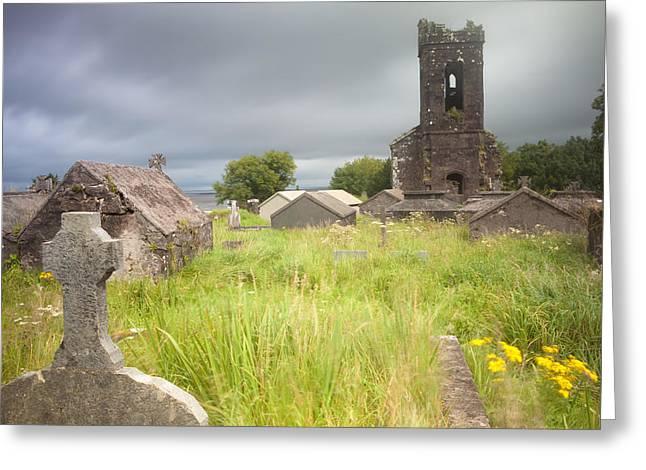 Despair Greeting Cards - Old desolated cemetery ruin Ireland Greeting Card by Dirk Ercken