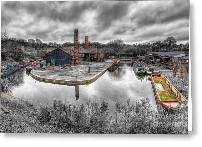 Selective Colouring Greeting Cards - Old Dock Greeting Card by Adrian Evans