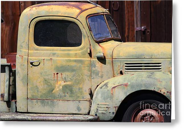 American Automobiles Photographs Greeting Cards - Old Dodge Truck 7D22382 Greeting Card by Wingsdomain Art and Photography