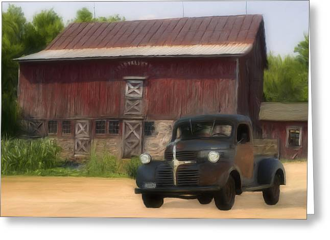 Old Trucks Greeting Cards - Old Dodge Truck Greeting Card by Jack Zulli