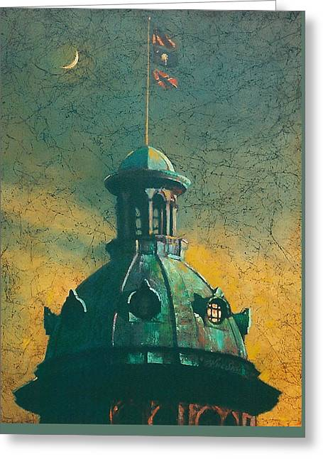 Blue Sky Greeting Cards - Old Dome Greeting Card by Blue Sky