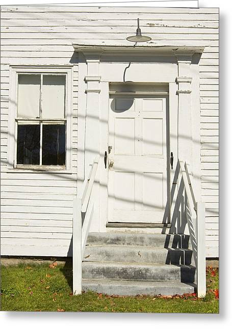 Old Maine Houses Greeting Cards - Old Door And Steps Greeting Card by Keith Webber Jr
