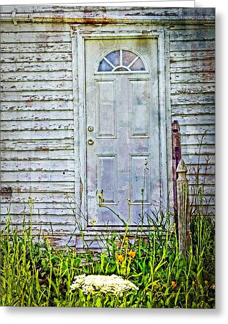Old Door Greeting Card by Cheryl Cencich