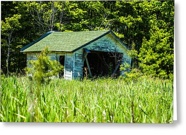 Winery Photography Greeting Cards - Old Door County Barn Greeting Card by David Daniel Adventures