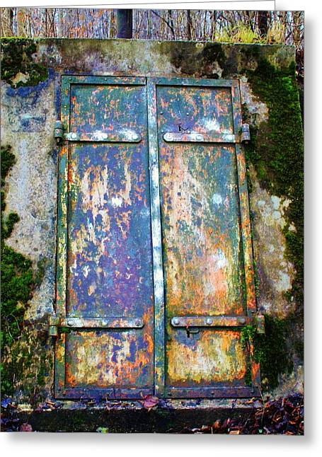 Basement Greeting Cards - Old Door Greeting Card by MayRoth