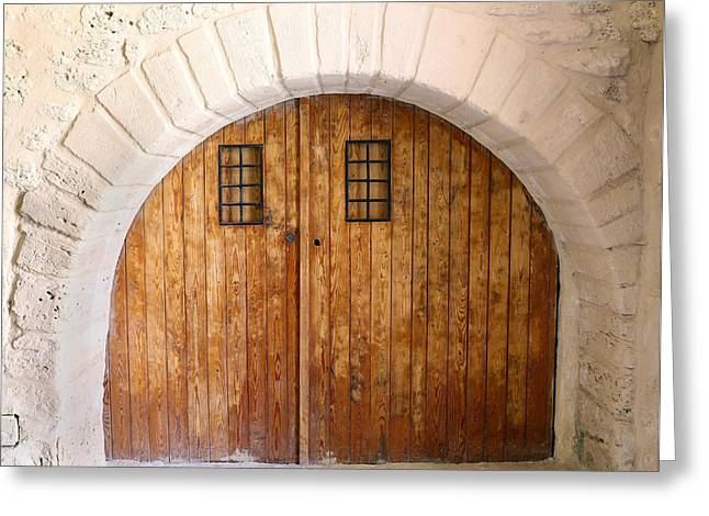 Entrance Door Greeting Cards - Old Door Greeting Card by Paul Fell