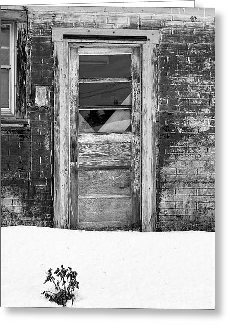 Old Doors Greeting Cards - Old Door Winchester NH Greeting Card by Edward Fielding