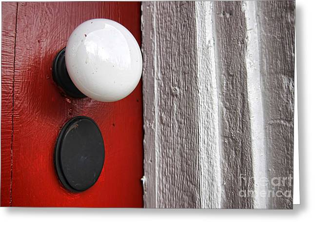 Historic Buildings Greeting Cards - Old Doorknob Greeting Card by Olivier Le Queinec
