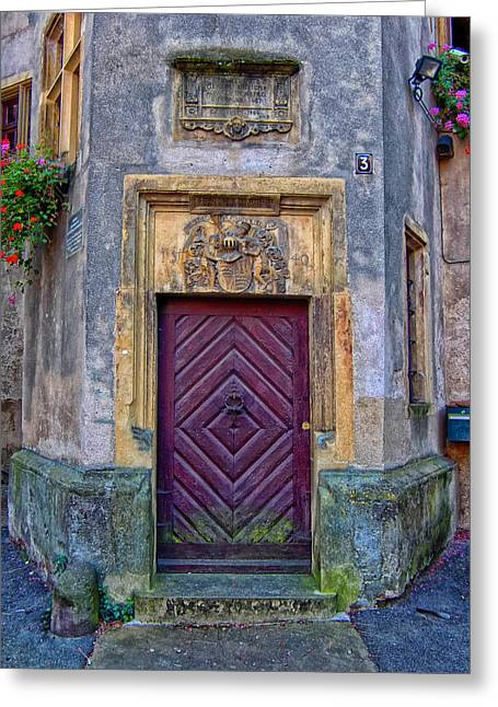 Old Door Greeting Cards - Old Doors of Germany Greeting Card by Mountain Dreams