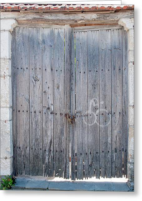 Nailed Shut Greeting Cards - Old Doors Greeting Card by Roy Pedersen