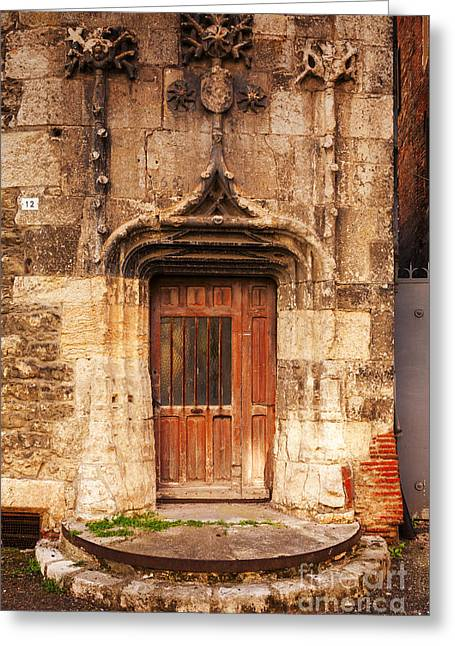 Midi Greeting Cards - Old Doorway Cahors France Greeting Card by Colin and Linda McKie