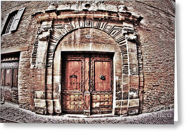 French Doors Greeting Cards - Old Doorway Greeting Card by Paul Topp