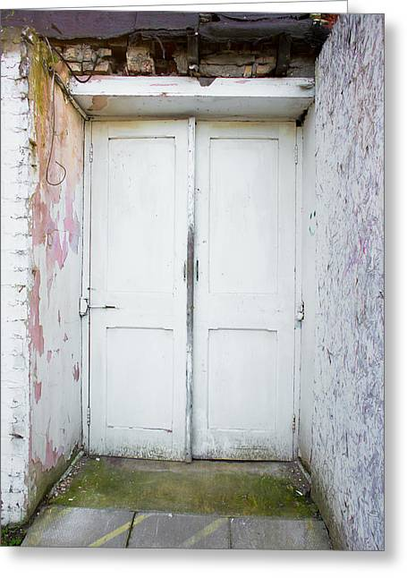 Abandoned Houses Greeting Cards - Old doorway Greeting Card by Tom Gowanlock