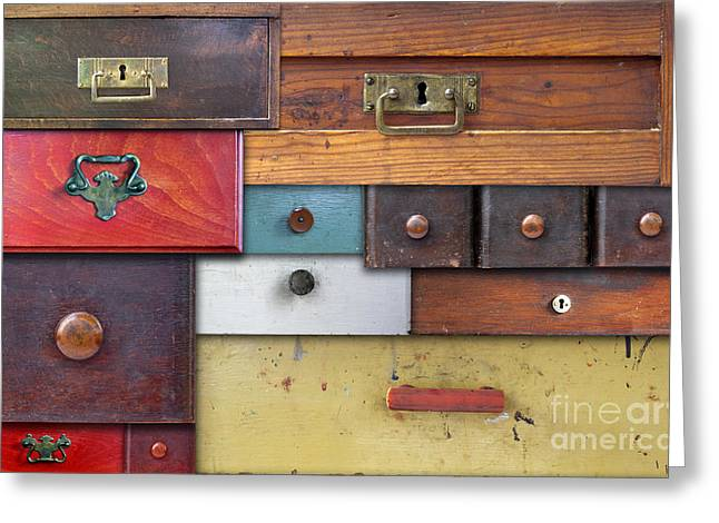Old Drawers - In Utter Secrecy Greeting Card by Michal Boubin