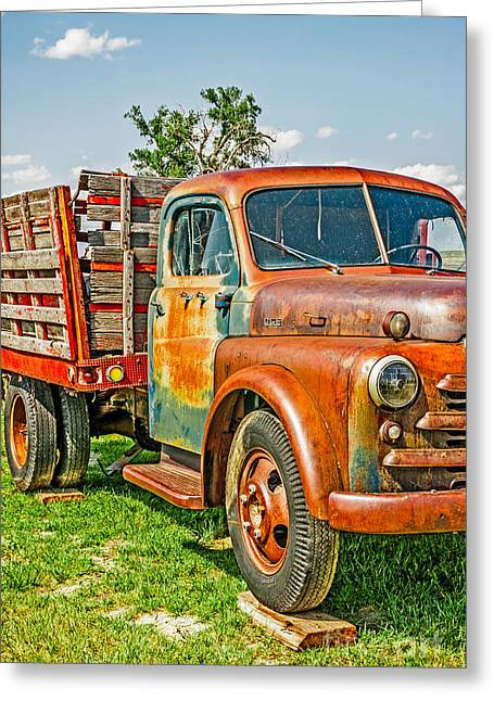 Sue Smith Greeting Cards - Old Dually Greeting Card by Sue Smith