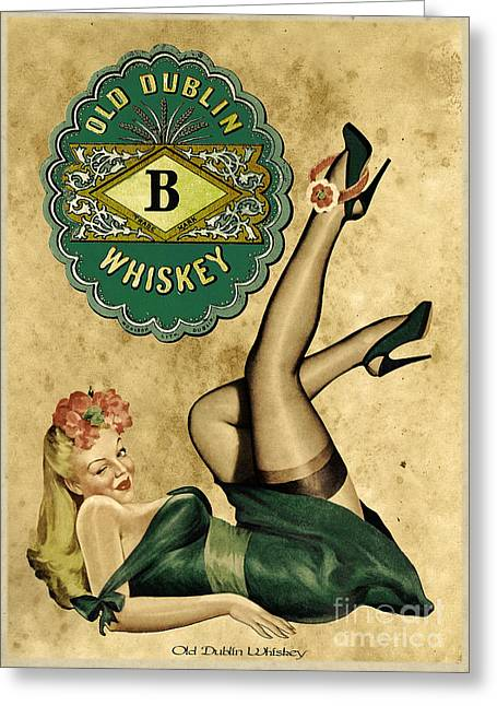 Ad Greeting Cards - Old Dublin Whiskey Greeting Card by Cinema Photography