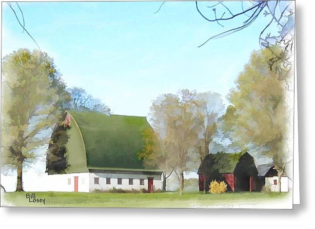 Best Sellers -  - Franklin Farm Greeting Cards - Old Dutch Barn Greeting Card by Bill Losey