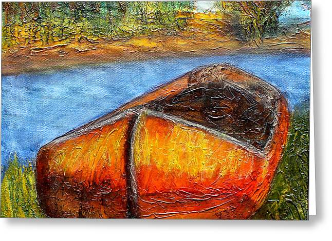 Fishing Creek Mixed Media Greeting Cards - Old Dutch Boat Greeting Card by Bellesouth Studio