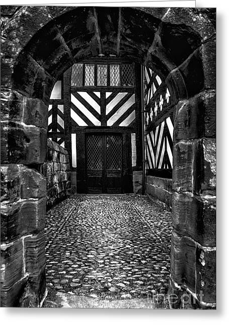 Black And White Hdr Greeting Cards - Old England v2 Greeting Card by Adrian Evans