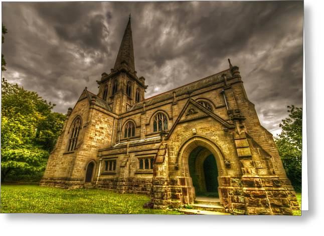 Sacred Digital Greeting Cards - Old English church Greeting Card by Nathan Wright