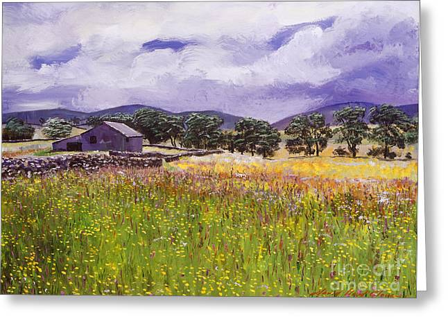 Relic Greeting Cards - Old English Farm House Greeting Card by David Lloyd Glover
