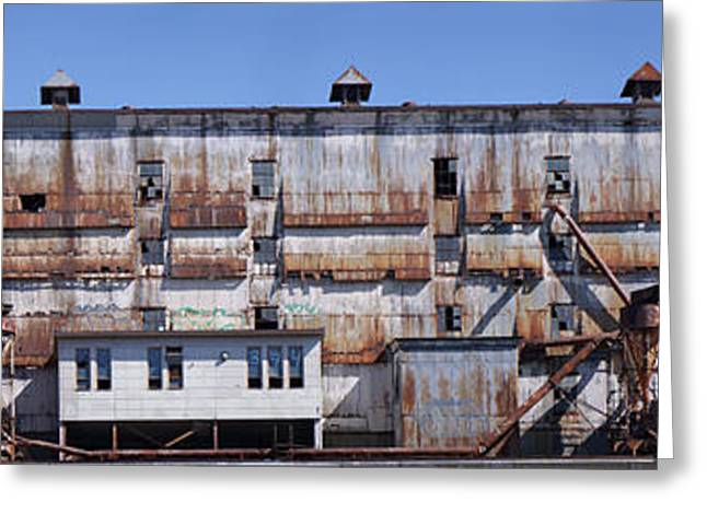 Old Photography Greeting Cards - Old Factory, Montreal, Quebec, Canada Greeting Card by Panoramic Images