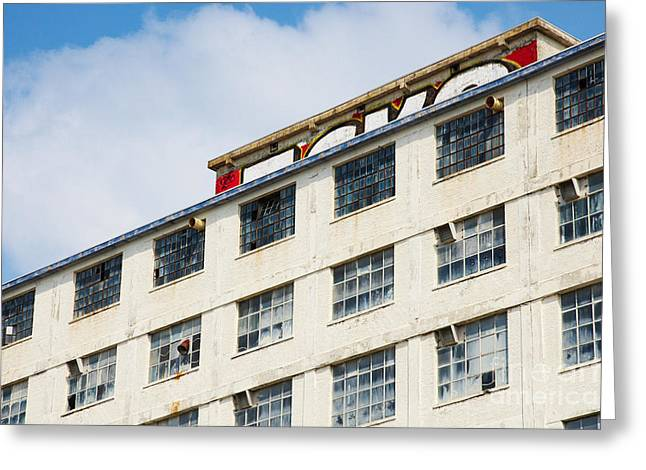 Grafity Greeting Cards - Old factory under a clear blue sky Greeting Card by Nick  Biemans