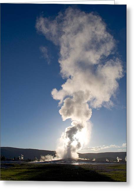 Old Faithful Greeting Cards - Old Faithful Greeting Card by Aaron Spong